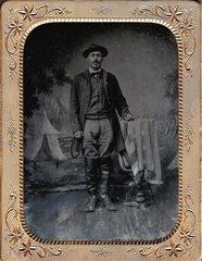 Union Infantry Man Half Plate Tintype