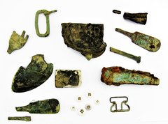 Relics From Gravesite at Fort McGilvary