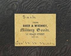 Sash Box of General W.W. Skiddy