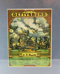 Battle of Gettysburg March Descriptive by E. T. Paul