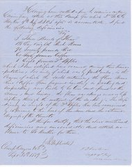 Confederate General James J. Archer's Commissary Report Signed With Cerificate of Authenticity