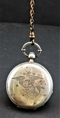 Patriotic Eagle Pocket Watch