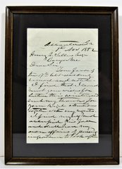 Letter Hand-Written and Signed by Confederate General James Longstreet