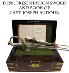 Desk, Presentation Sword, and Book of Captain Joseph Audoun, Eagle Artillery