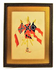 Hand-Painted Confederate Flags