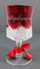 Gettysburg Souvenir Ruby Flash Goblet