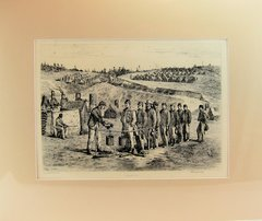 Edwin Forbes Engraving Plate No. 20 Fall in for Soup / Company Mess