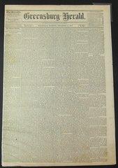 Emancipation Proclamation, Greensburg Herald