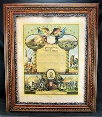 Civil War Escutcheon for John D. Snyder, Company G, 149th PA Infantry - Bucktails