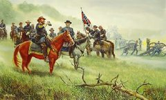 "Lee's ""Old War Horse"" General Longstreet & Lee By Mort Kunstler"
