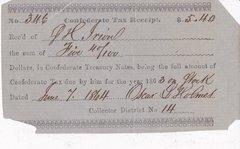 Confederate Tax Receipt