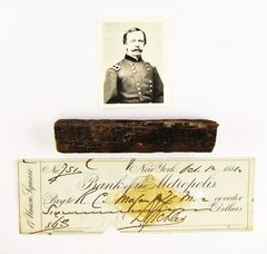 Section Of Wood From Where Sickles' Leg Was Amputated
