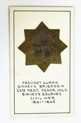 Provost Guard Badge Birney's Brigade 23rd Regiment PA Volunteers