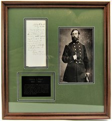 Henry J. Hunt Autographed Military Letter, Commander of Artillery at Gettysburg, Wartime Military Document