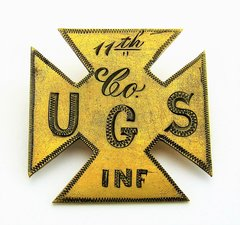 11th US Infantry Company G, 5th Corp Badge