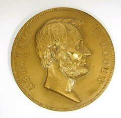 Abraham Lincoln Bronze Memorial Medal