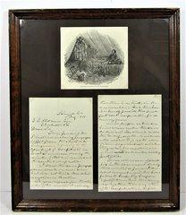 General Longstreet Letter In His Hand