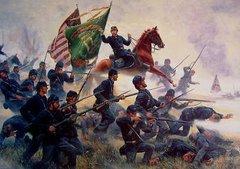 Raise The Colors and Follow Me - Irish Brigade At Antietam By Mort Kunstler