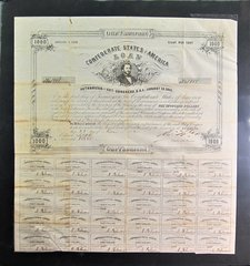Confederate One Thousand Dollar Bond