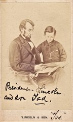 Abraham Lincoln and his son, Tad.