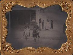 Quarter Plate Tintype of Soldiers on Horseback