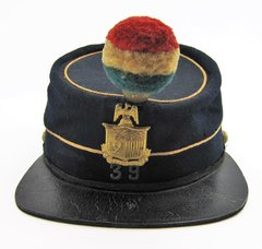 Enlisted Man's Kepi Identified To The 39th New York Garibaldi Guard