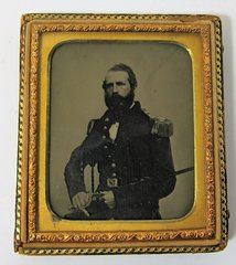 Dashing Union Captain Ambrotype Sixth Plate