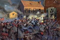 Fire On Carolina Street, The 20th Mass Harvard Regiment By Don Troiani