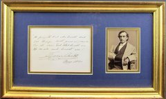 Edwin Booth Cabinet Card and Autograph Letter Signed Quote