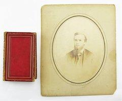 Albumen of Sergeant George Ziegler, 126th PA Volunteers & Inscribed Poetry Book