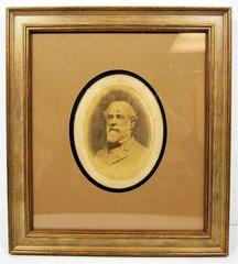 Framed Original Cabinet Card Photograph of General Robert E. Lee