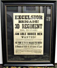 Early Civil War Recruiting Broadside for the 72nd New York Infantry