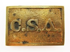 Confederate States Army Rectangular Belt Plate