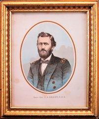 Hand Colored Steel Engraving of Lieutentant General U.S. Grant