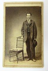 Man With Badge CDV Stamp