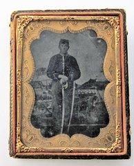 Cavalry Trooper Tintype Quarter Plate