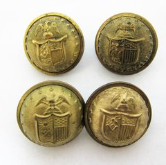 New York Coat Size State Seal Uniform Button