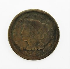 1848 Coronet Large Cent, Matron Head