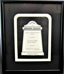 Abraham Lincoln - Memorial Engraving