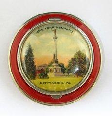 Gettysburg Souvenir New York Memorial Powder Compact
