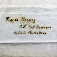 "Confederate Blanket Identified to Travis Hensley Co ""E"" Captain Woodward Waller's Battalion, 13th Texas Cavalry"