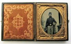 Union Cavalryman Sixth Plate Tintype