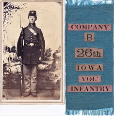 26th Iowa Volunteer Infantry Soldier with Ribbon