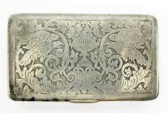 Silver Patriotic Snuff Box