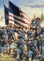 Framed 6th Wisconsin At Gettysburg By Rick Reeves