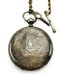 Federal Eagle Key Wind Pocket Watch by Usysse Perret