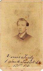 """First Sergeant John """"Jack"""" Torbert, Company K, 5th Regiment, PRVC Captured At Weldon Railroad"""