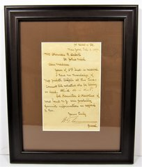 General William Tecumseh Sherman Framed Letter Signed with Hand Written Annotation