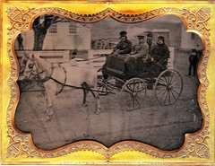 1/4 Plate Ambrotype of Horse Drawn Carriage Ca. 1850's