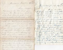 Pair of Letters Written by a Member of the Pennsylvania Bucktails Dated 1862